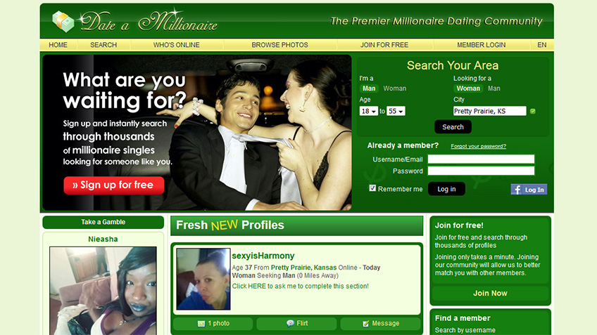 Find dating site for millionaires